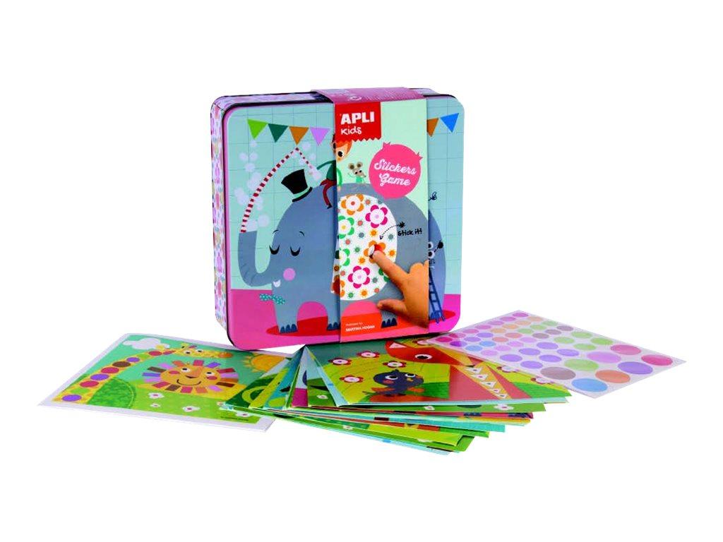 Apli Kids - Boîte métallique jeu de gommettes - éléphant