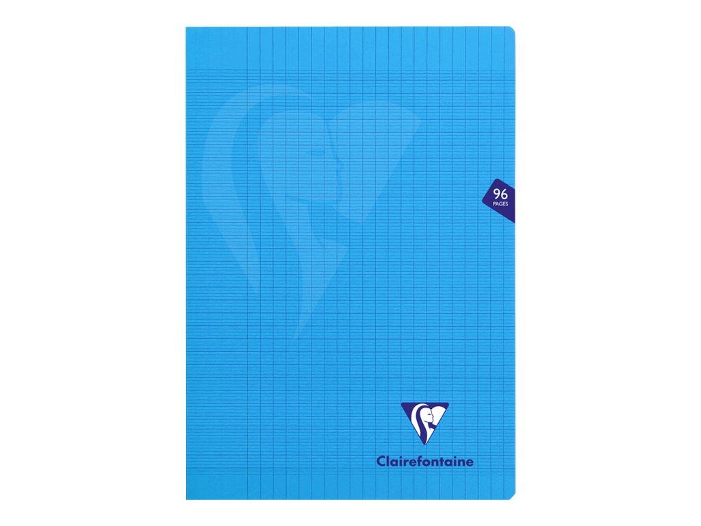Clairefontaine Mimesys - Cahier polypro A4 (21x29,7 cm) - 96 pages - grands carreaux (Seyes) - disponible dans différentes couleurs