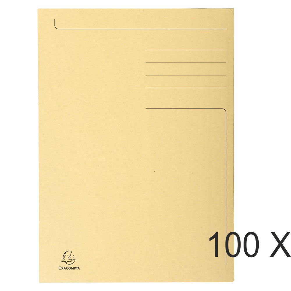 Exacompta Forever - 100 Chemises imprimées - 280 gr - bulle