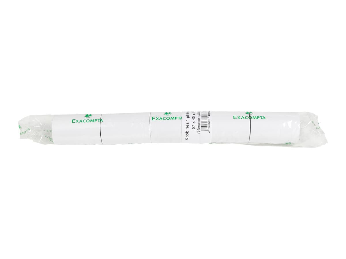 Exacompta - 10 Bobines pour TPE - papier thermique 57 x 40 x 12 mm - sans Bisphénol A