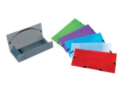 Viquel Propyglass - Chemise polypro à rabats - format chéquier - disponible dans différentes couleurs