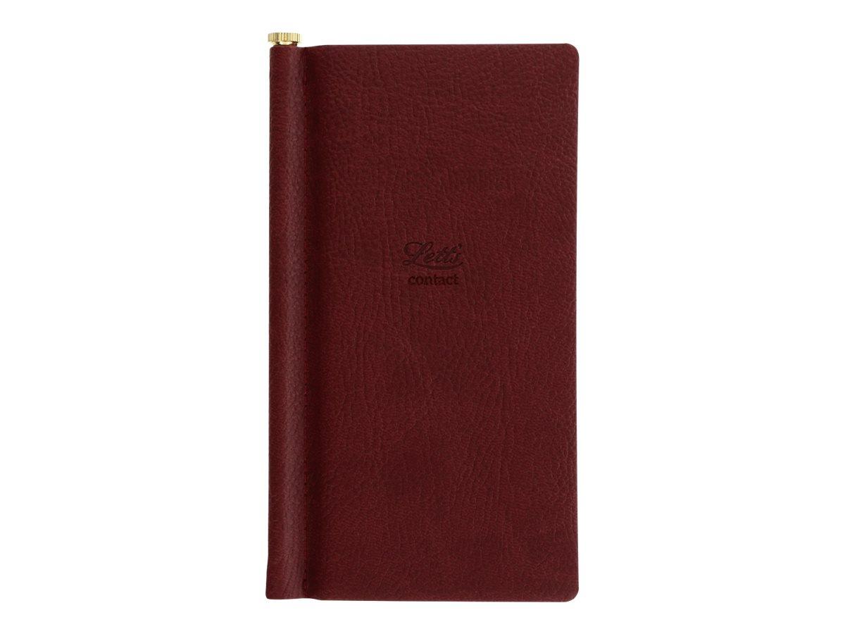 Letts Origins - Répertoire Carnet d'adresses de poche - chocolat - 6,9 x 14,7 cm
