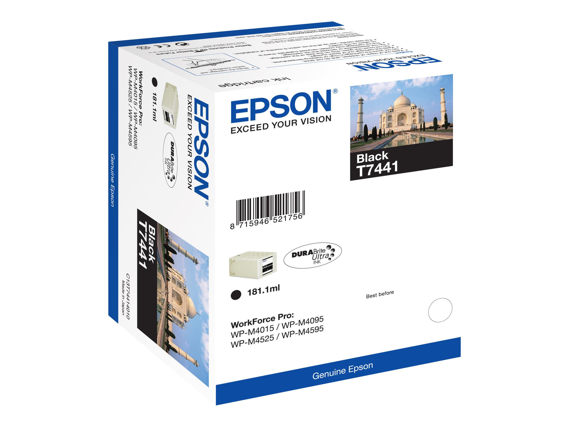 Epson T7441 Taj mahal - noir - cartouche d'encre originale