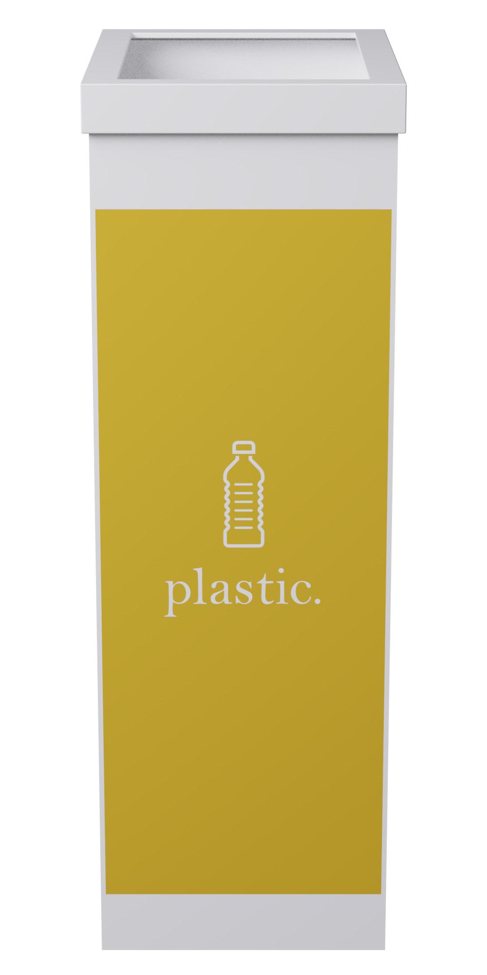 Corbeille de tri sélectif pour le plastique