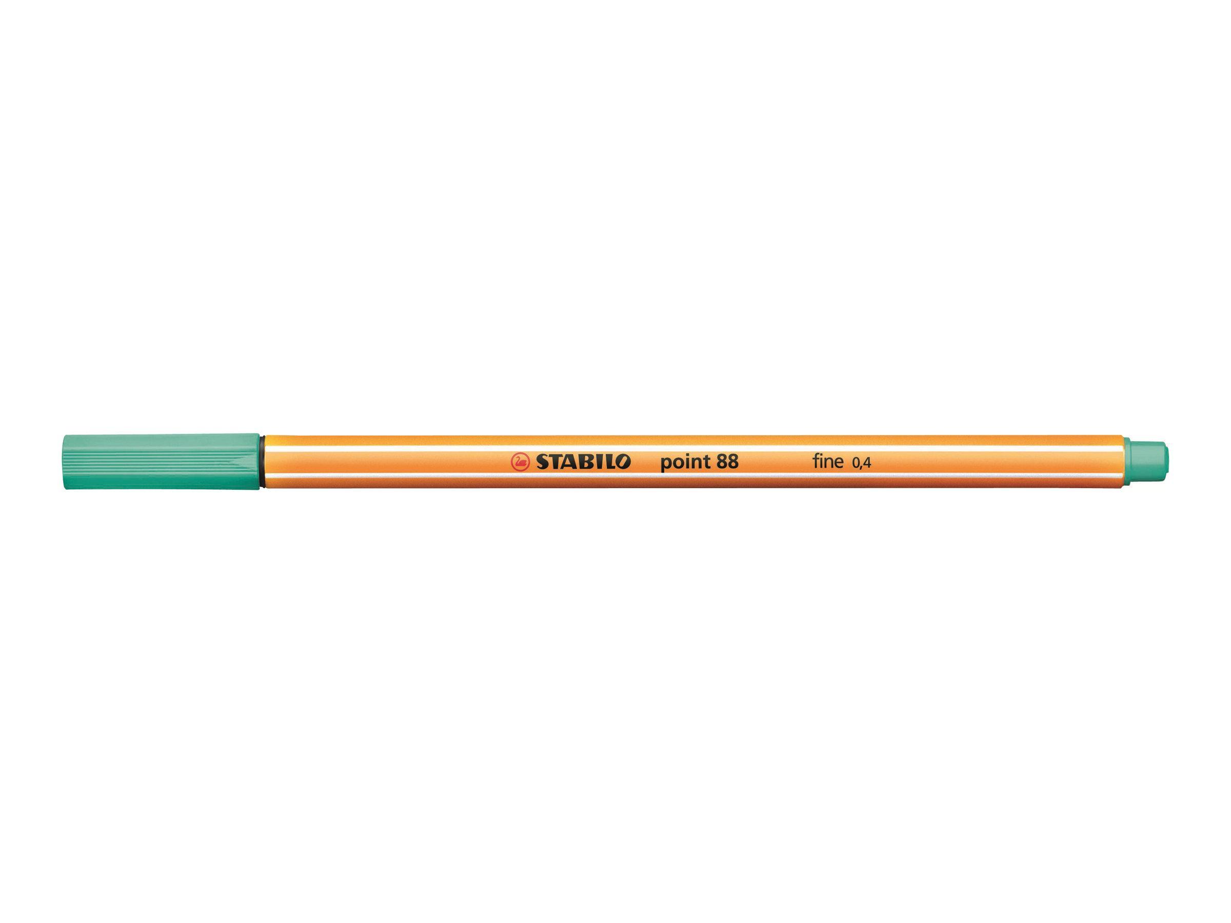STABILO point 88 - Feutre fin - 0.4 mm - vert glacé