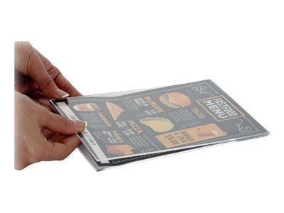 Promocome - Protège-visuel acrylique pour socle bois - A6