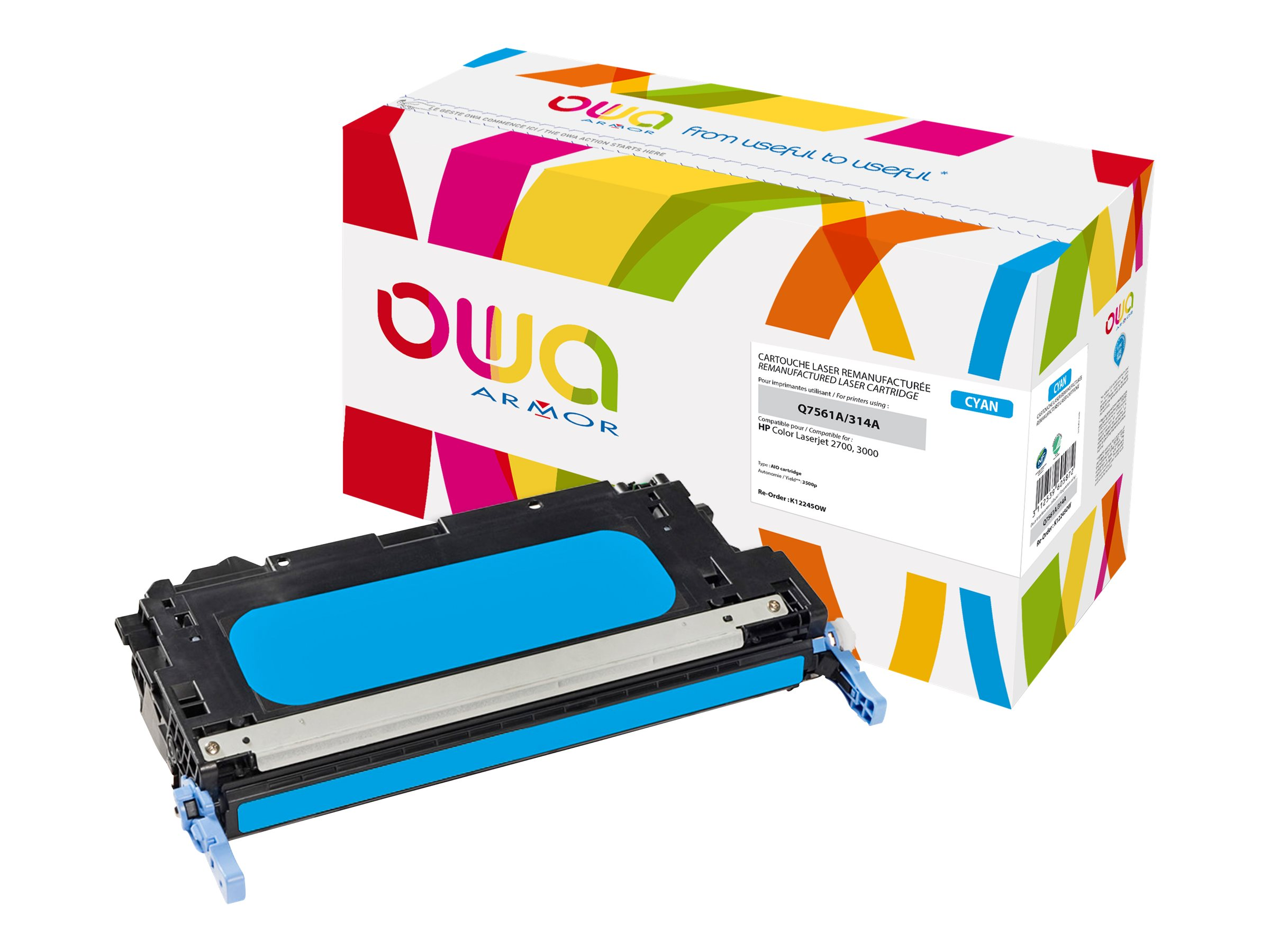 HP 314A - remanufacturé Owa K12245OW - cyan - cartouche laser