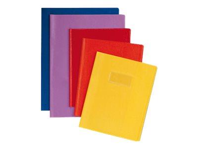 Calligraphe - Protège cahier sans rabat - 24 x 32 cm - grain cuir - jaune
