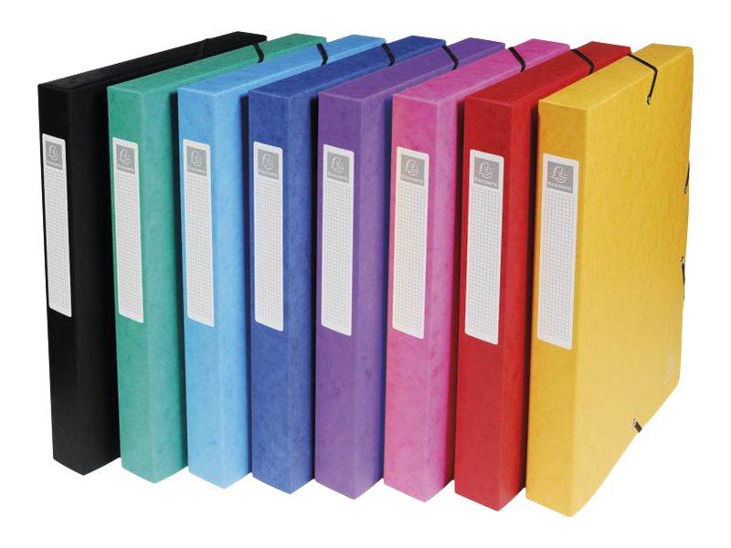 Exacompta Exabox - Boîte de classement en carte lustrée - dos 40 mm - disponible dans différentes couleurs