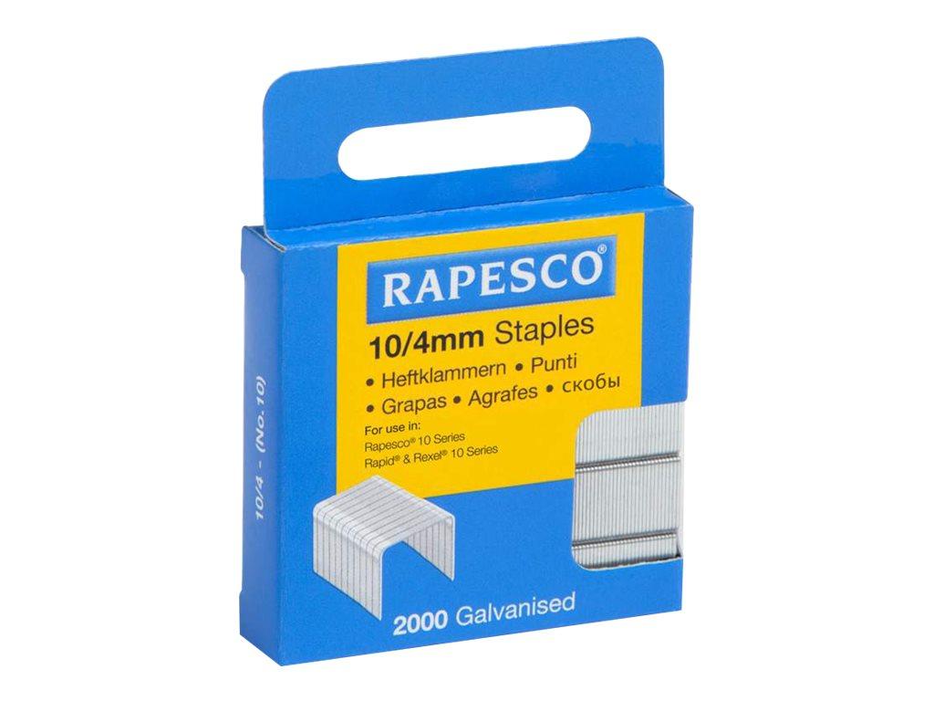 Rapesco - Boîte de 2000 agrafes 10/4 - jusqu'à 10 feuilles