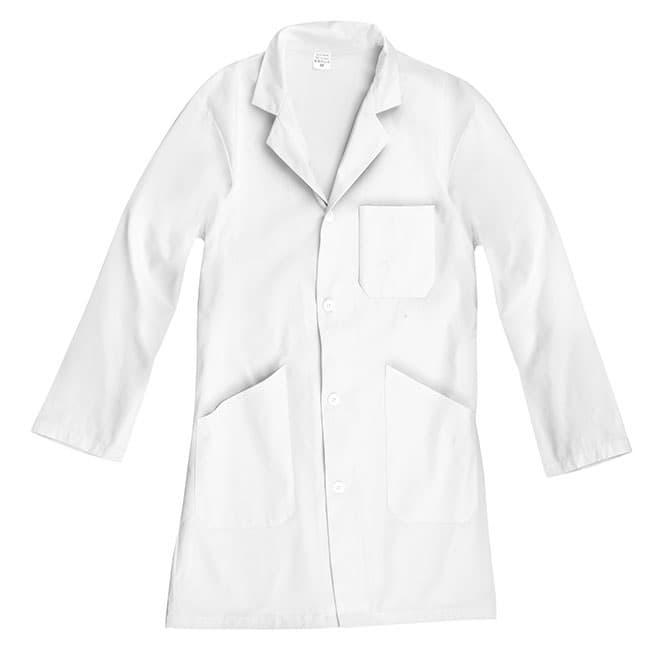 JPC - Blouse blanche mixte - 100% coton - taille 8/10 ans