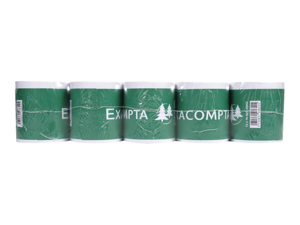 Exacompta - 50 Bobines pour calculatrices - papier offset 74 x 70 x 12 mm