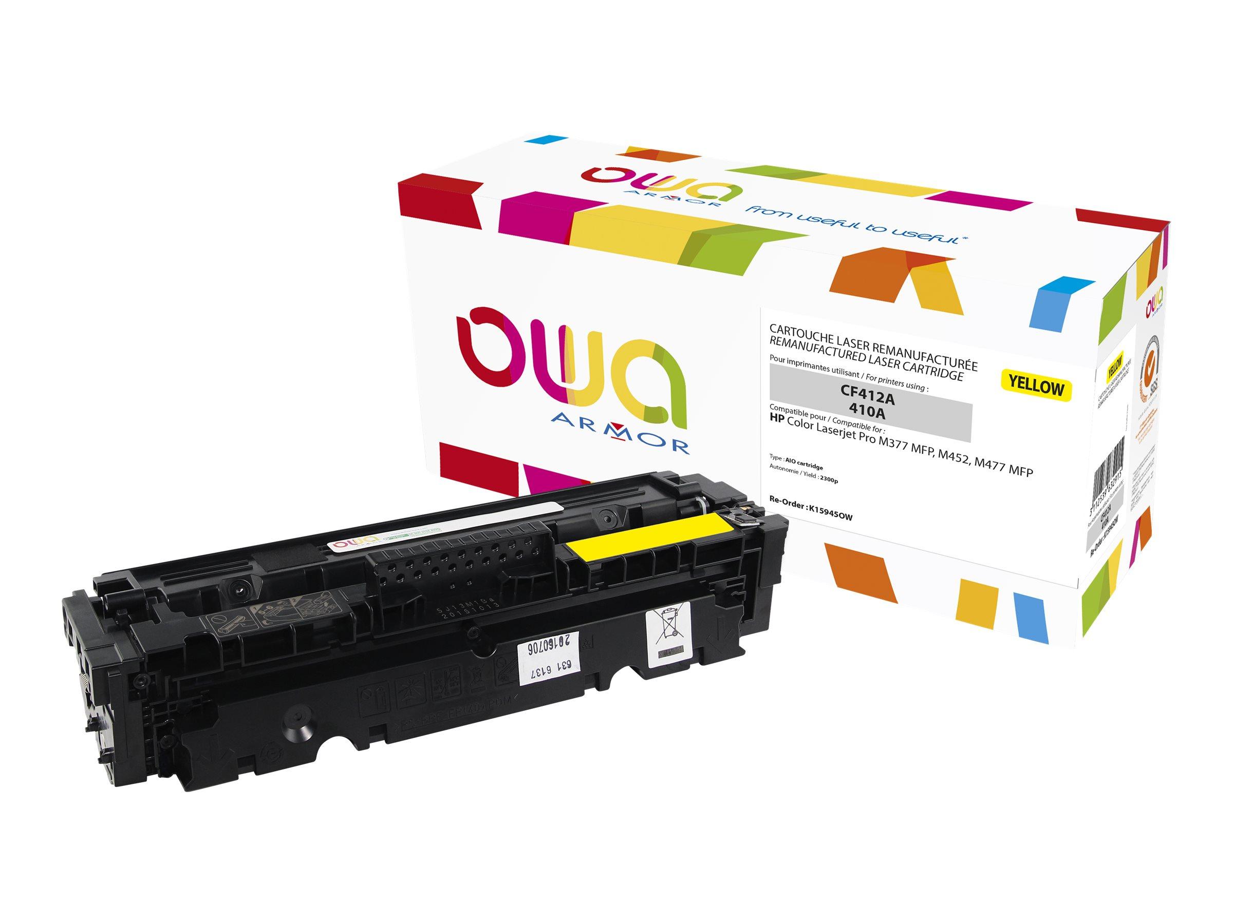 Owa K15945OW cartouche équivalente HP 410A - jaune