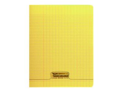 Calligraphe 8000 - Cahier polypro 17 x 22 cm - 96 pages - grands carreaux (Seyes) - jaune