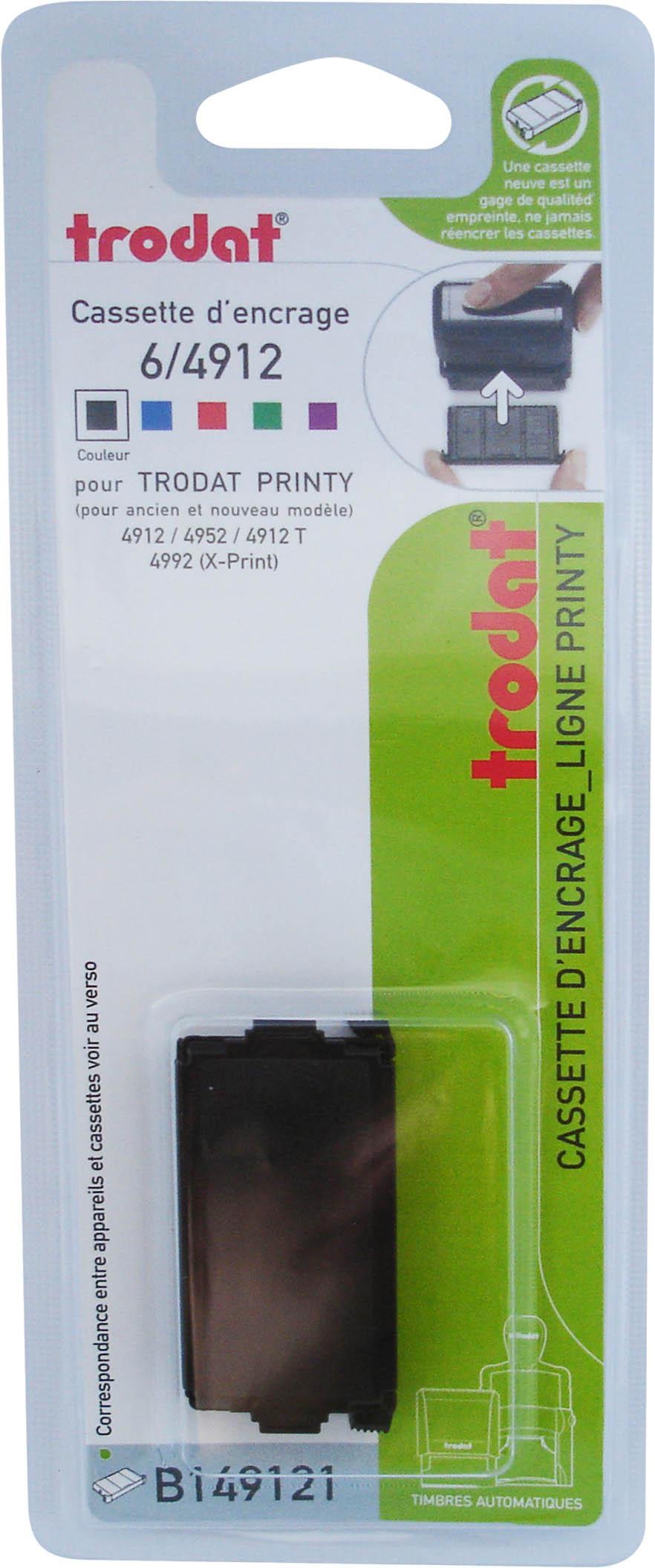 Trodat - Encrier 6/4912 recharge pour tampon Printy 4912/4953 - noir