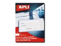 Apli Agipa - 5 Portes-badge de nom plastique - pour 100 x 72 mm