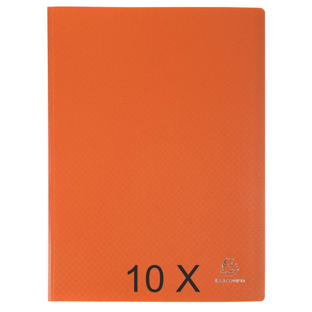 Exacompta Opak - 10 Porte vues - 100 vues - A4 - orange