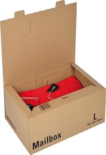 Logistipack L - Boîte postale d'expédition - 39,5 cm x 25 cm x 14 cm - kraft brun