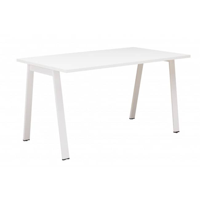 Bureau ARPE - 120 cm - Pieds métal - Blanc