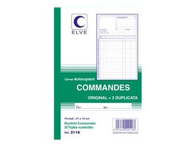 ELVE - Manifold Carnet de commandes - 50 tripli - 21 x 14 cm