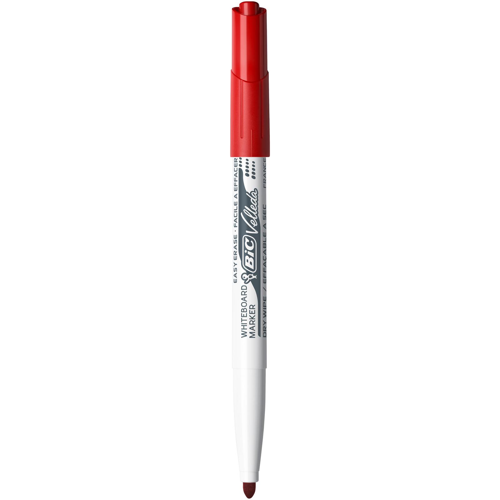 BIC VELLEDA 1741 - Marqueur effaçable - pointe ogive - rouge