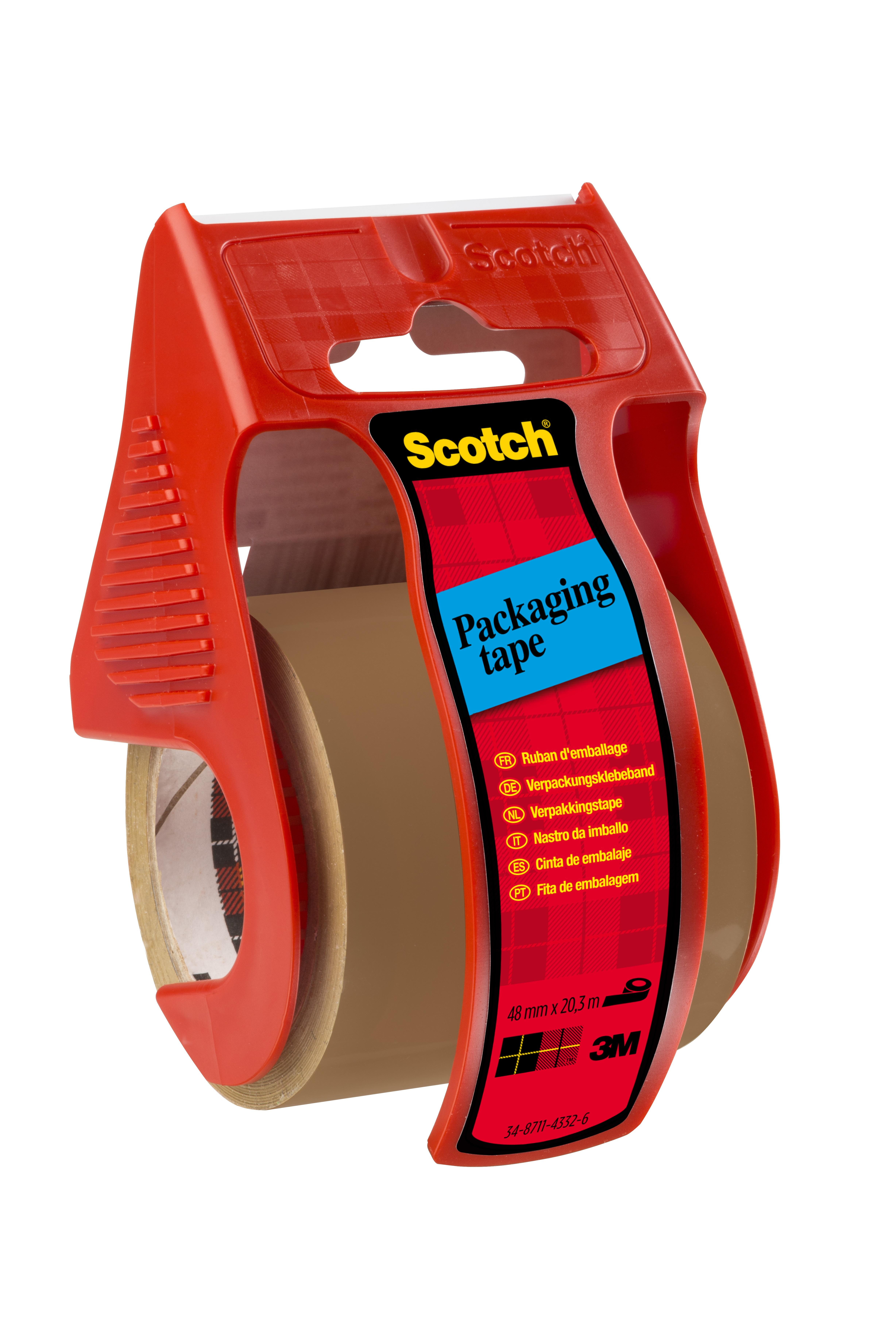 Scotch - Ruban adhésif d'emballagesur petit dévidoir - havane - 50 mm x 20m