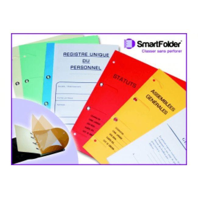 SmartFolder - Chemise à 3 rabats - registre unique du personnel avec 16 feuillets