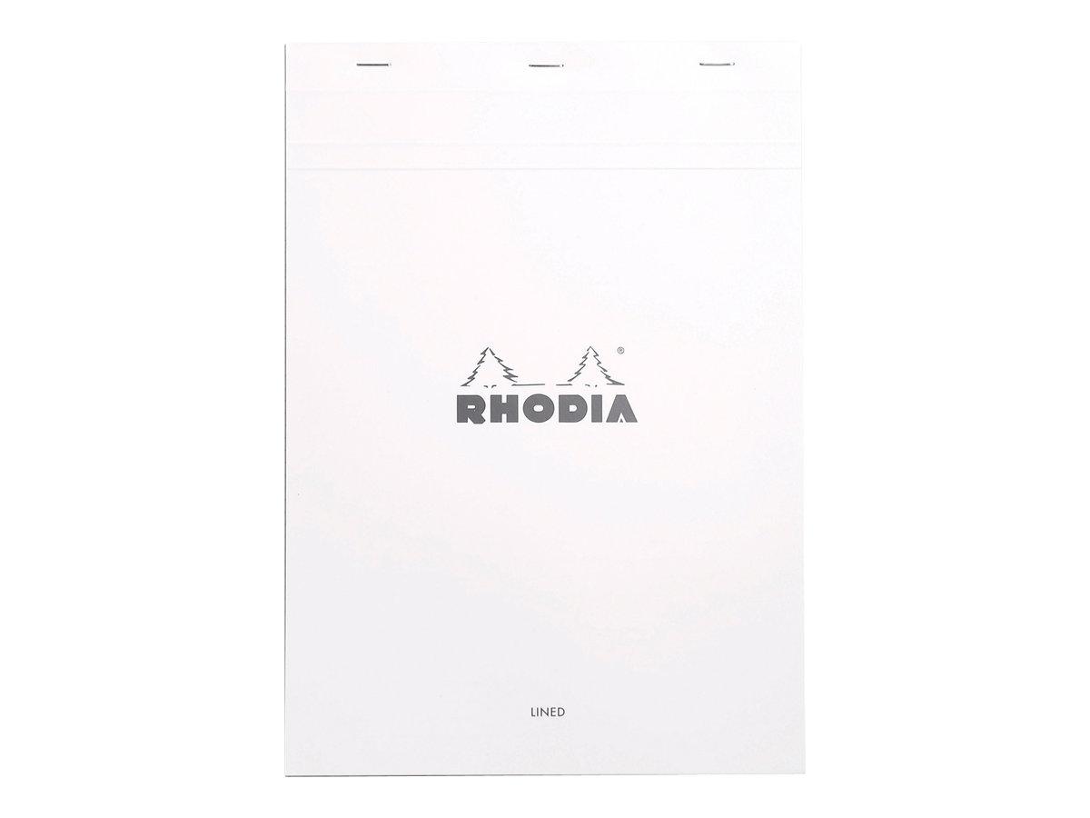 Rhodia - Bloc notes N°18 - A4 - 160 pages - petits carreaux - 80g - blanc