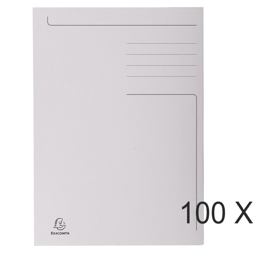 Exacompta Forever - 100 Chemises imprimées format folio - 280 gr - gris
