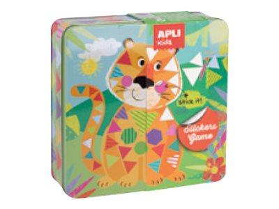 Apli Kids - Boîte métallique jeu de gommettes - tigre