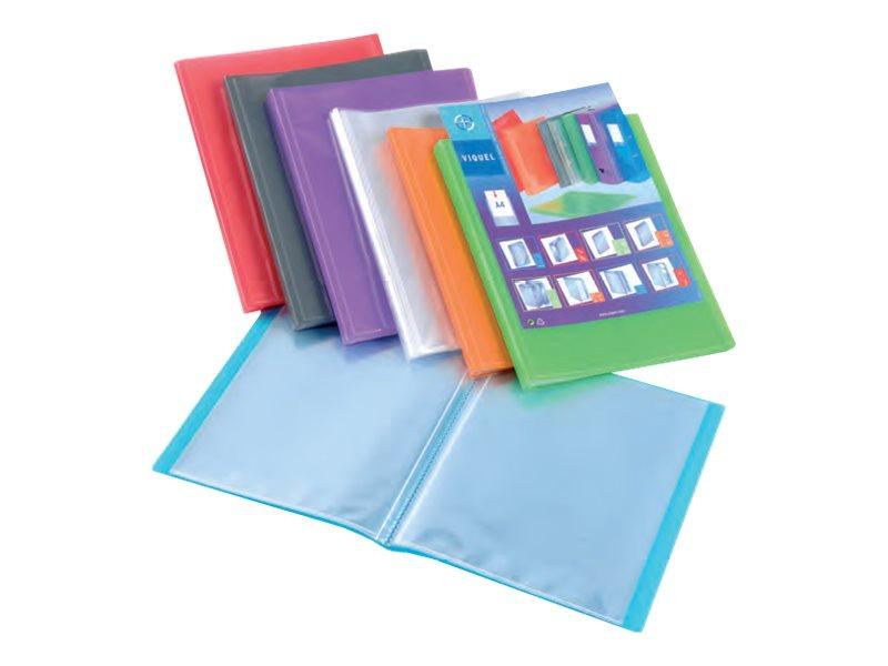 Viquel Propyglass - Porte vues personnalisable - 80 vues - A4 - disponible dans différentes couleurs