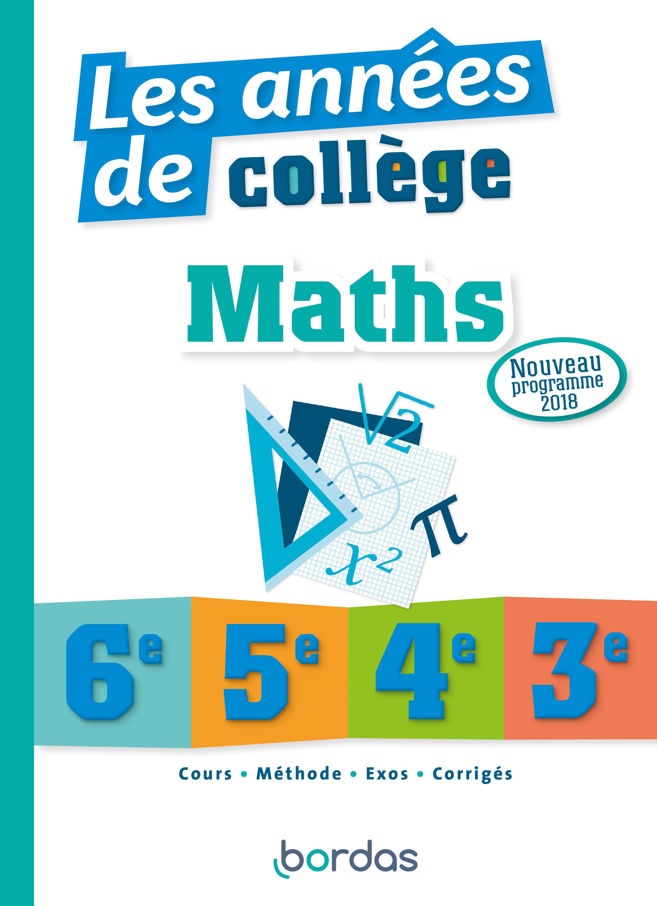 Les années de collège - Maths