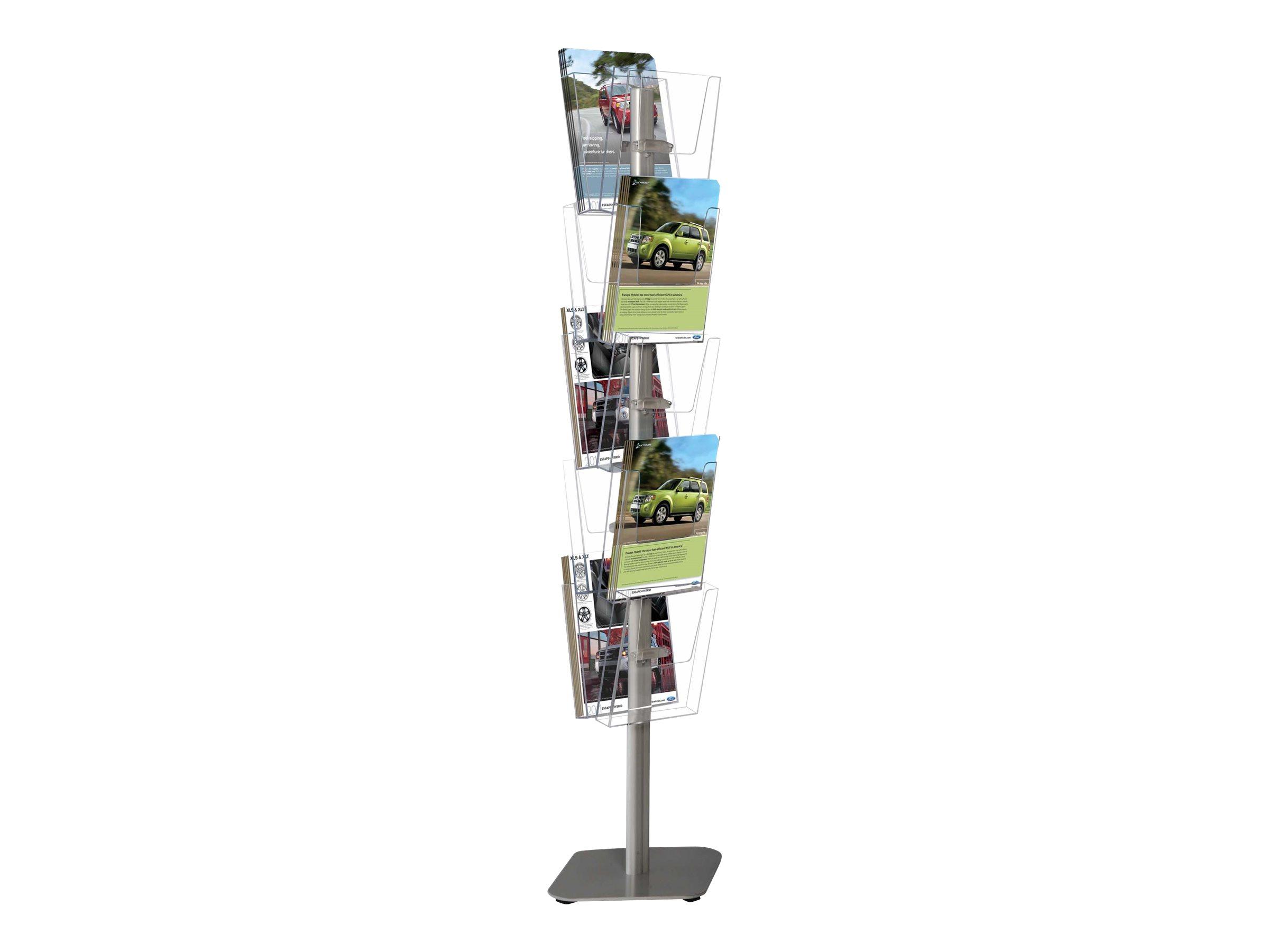 Promocome - Présentoir de sol 5 niveaux pour brochures A4 - 5 bacs sur 1 face