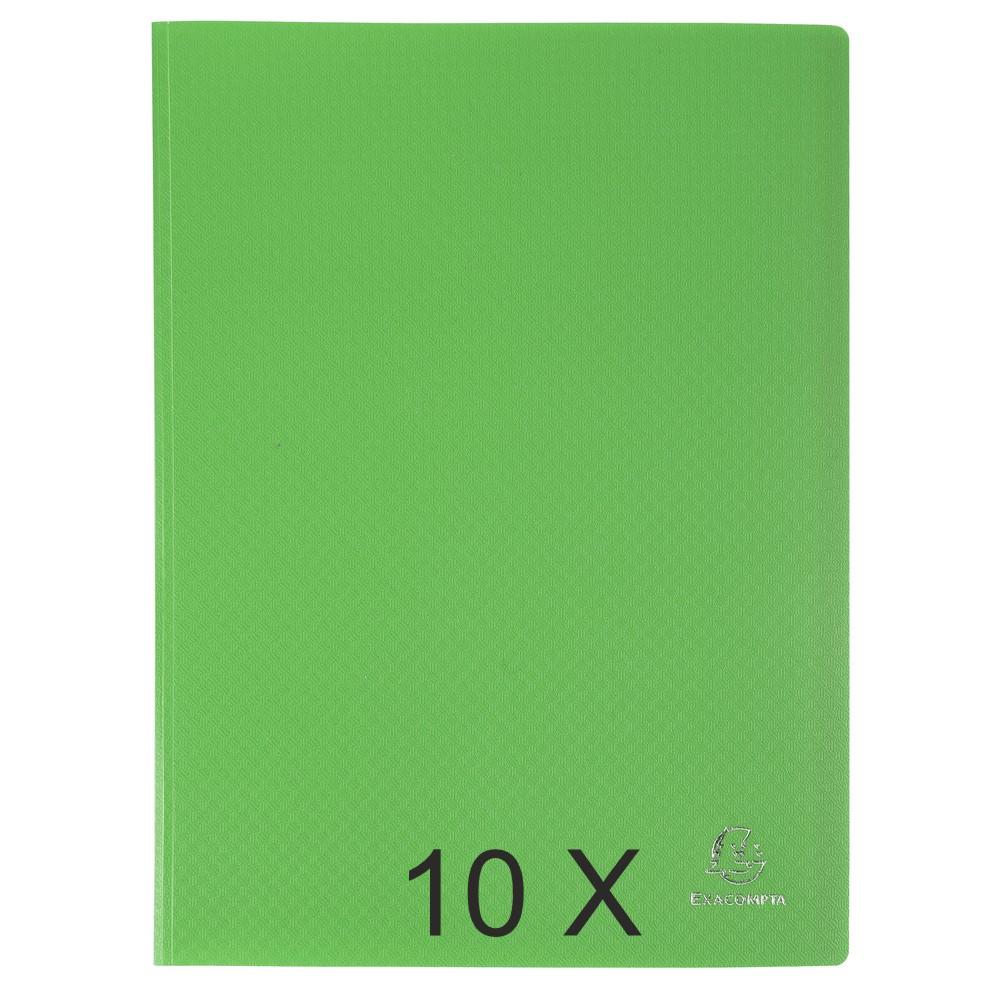 Exacompta Opak - 10 Porte vues - 80 vues - A4 - vert clair