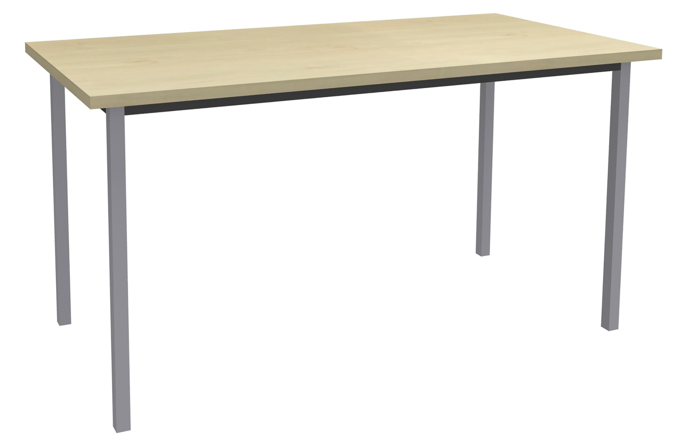 Table de réunion Rectangulaire - 120 x 60 cm - Pieds aluminium - imitation érable