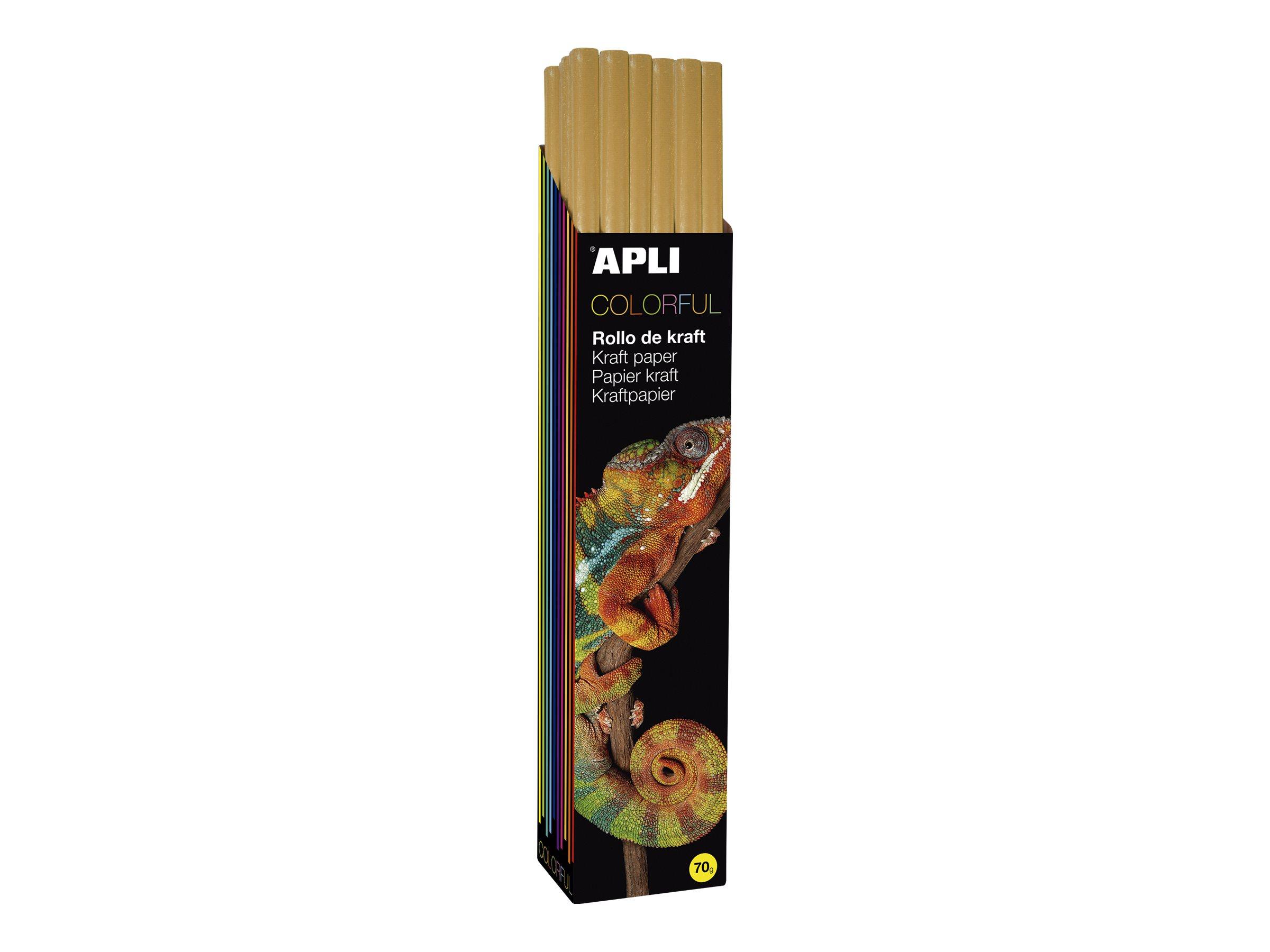 Apli Agipa - Papier cadeau kraft - 100 cm x 3 m - 70 g/m² - orange