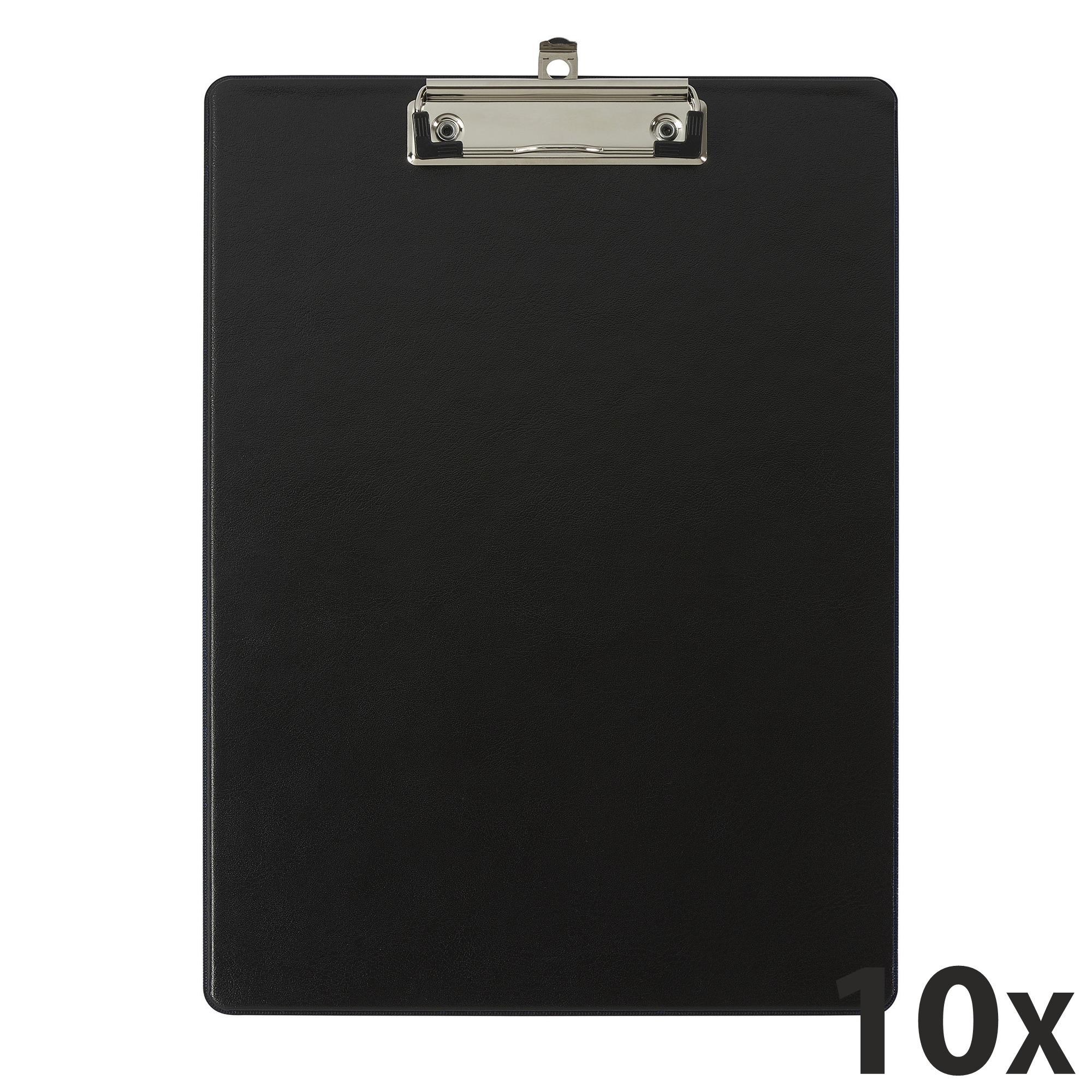 Exacompta - 10 Porte blocs avec pochette - A4 - noir