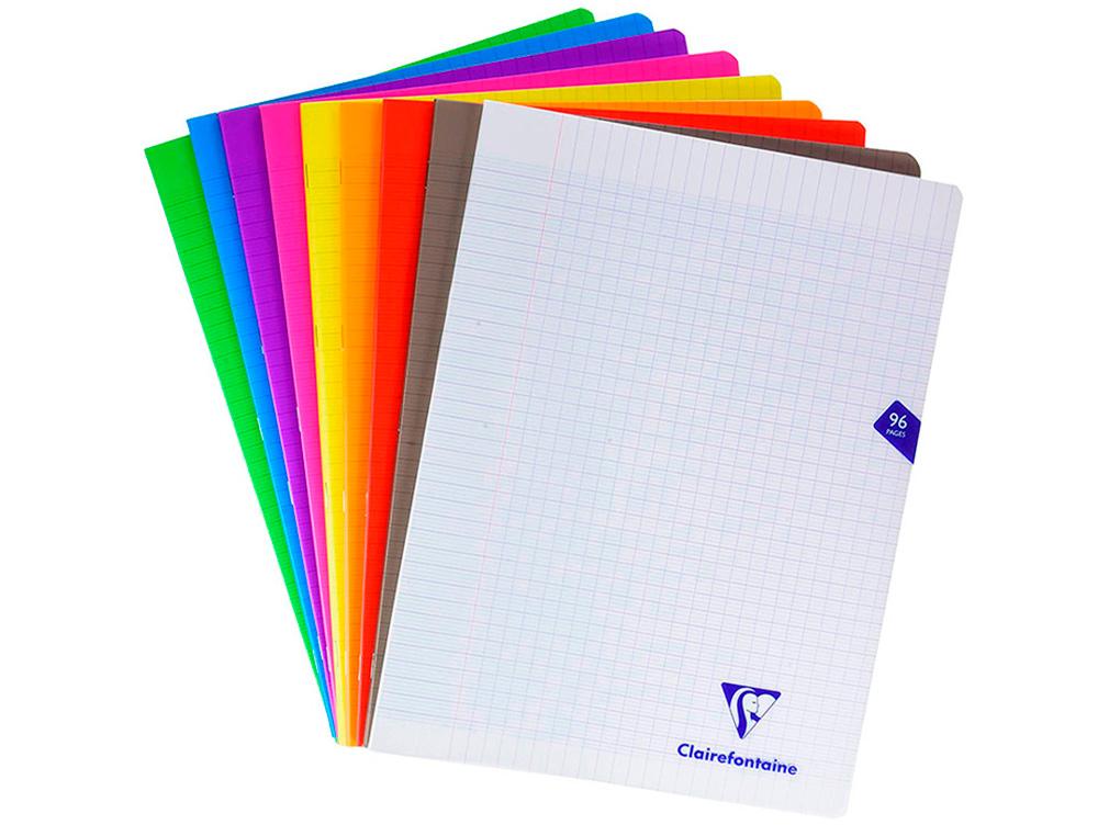 Clairefontaine Mimesys - Cahier polypro 24 x 32 cm - 96 pages - grands carreaux (Seyes) - disponible dans différentes couleurs