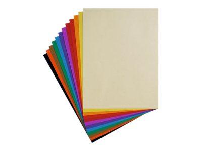 Clairefontaine - Pochette papier à dessin - 12 feuilles - 24 x 32 cm - 160 gr - couleurs vives