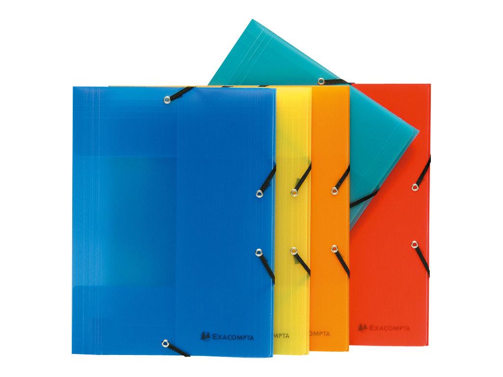 Exacompta Linicolor - Chemise polypro à rabats - A4 - disponible dans différentes couleurs