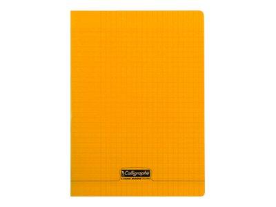 Calligraphe 8000 - Cahier polypro A4 (21x29,7 cm) - 96 pages - grands carreaux (Seyes) - orange