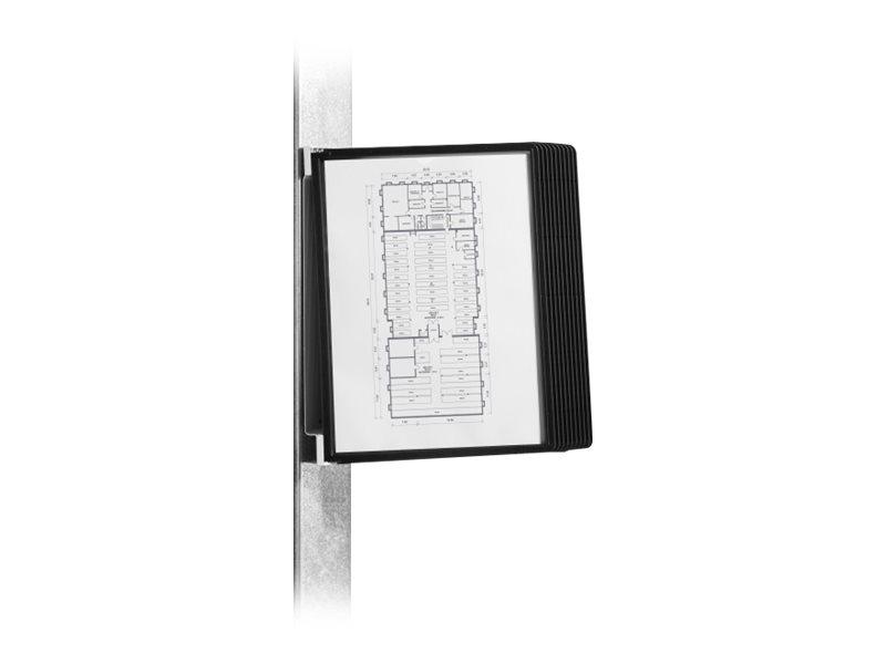 Durable Vario - Support mural magnétique avec 10 pochettes A4 - noir