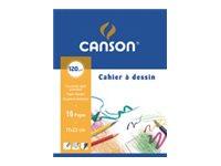 Canson - Cahier à dessin 17 x 22 cm - 16 pages - 125g - blanc