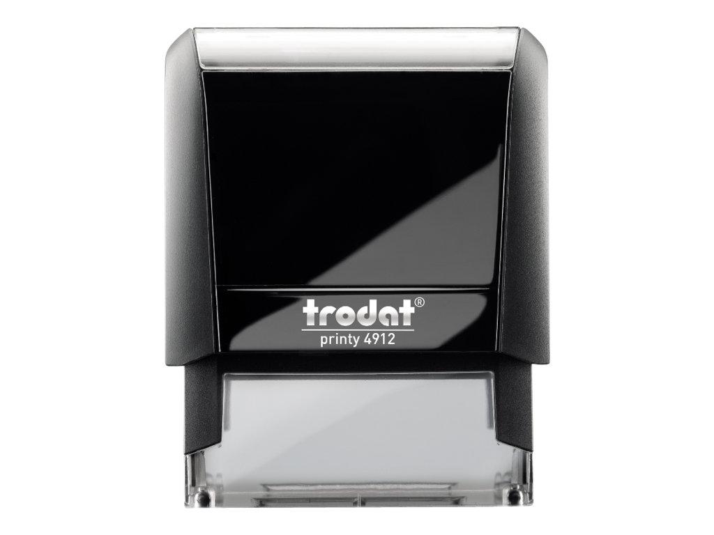 Trodat Printy 4912 - Tampon auto-encreur - 4 lignes - texte personnalisable