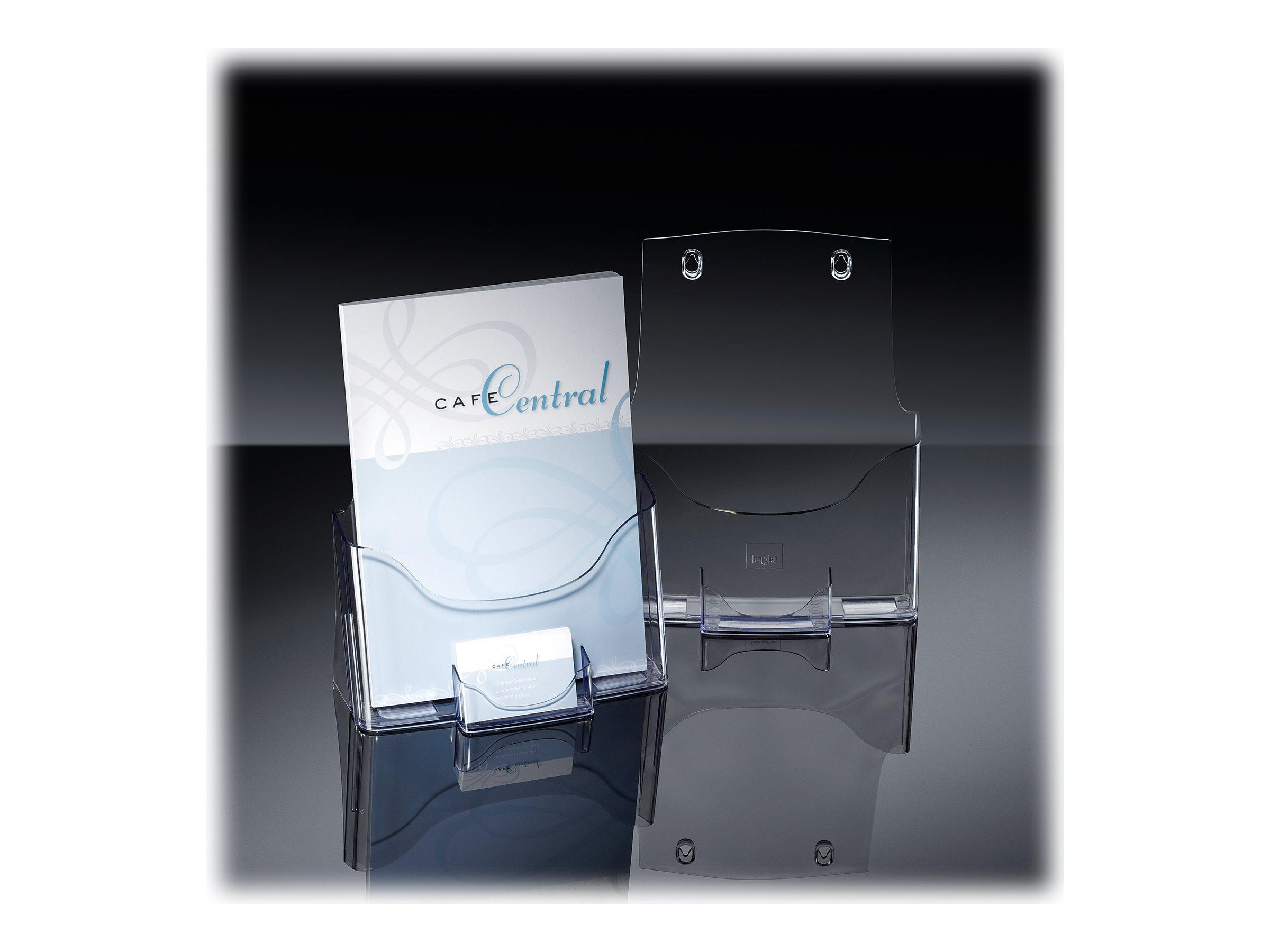 Sigel - Porte-brochures A4 + 1 compartiment pour cartes de visite
