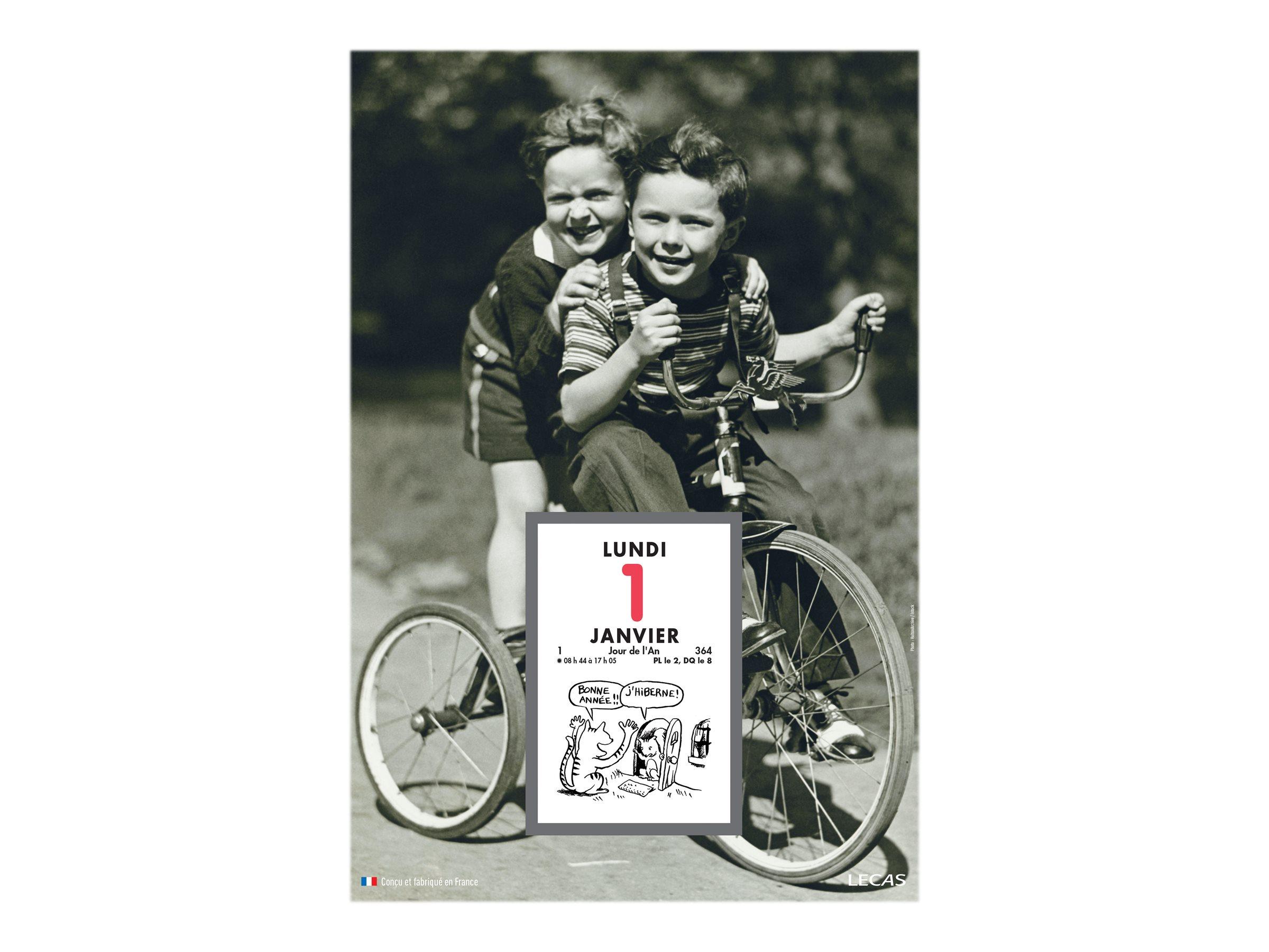 Lecas Rétro - Plaque avec bloc éphéméride humoristique - 17 x 25 cm - disponible dans différents modèles