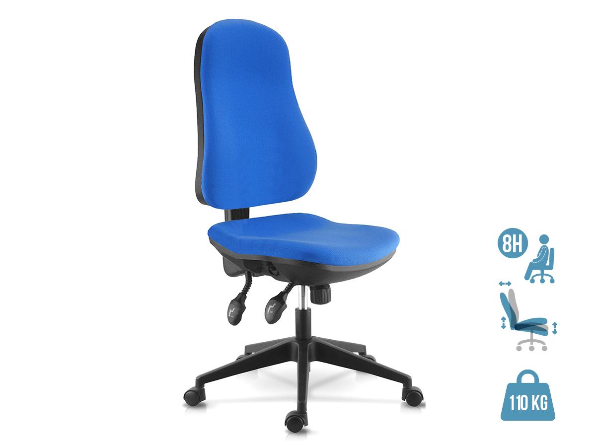 Fauteuil de bureau LIBRA - accoudoirs en option - Bleu