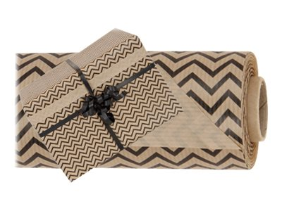 Logistipack - Papier cadeau kraft - 70 cm x 40 m - 60 g/m² - motif vague