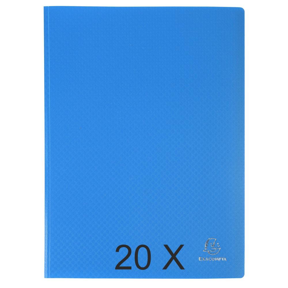 Exacompta Opak - 20 Porte vues - 40 vues - A4 - bleu clair