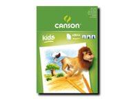 Canson - Kids - bloc dessin - 20 feuilles - A5 - 90G - blanc